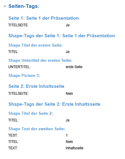 PPT Tags in Word Dokument Ergebnis 2